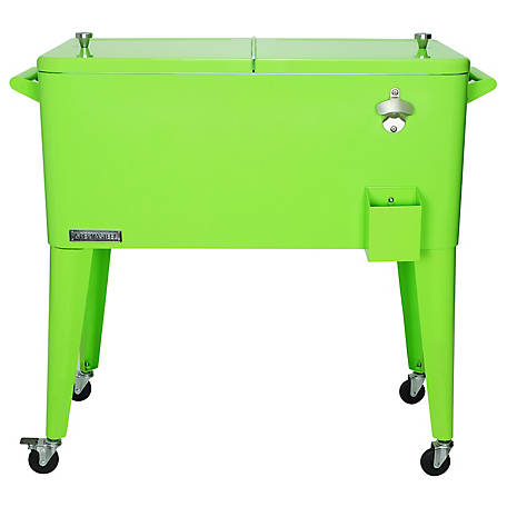 Permasteel Patio Cooler, 80 qt., PS-203-LIME