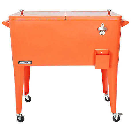 Permasteel Patio Cooler, 80 qt., PS-203-ORANGE