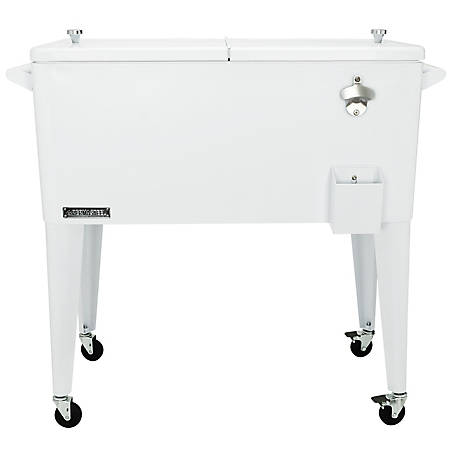 Permasteel Patio Cooler, 80 qt., PS-203-WHT