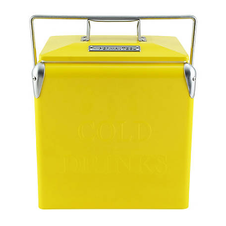 Permasteel Portable Picnic Cooler, Yellow, 14 qt., PS-205-14QT-YELLOW