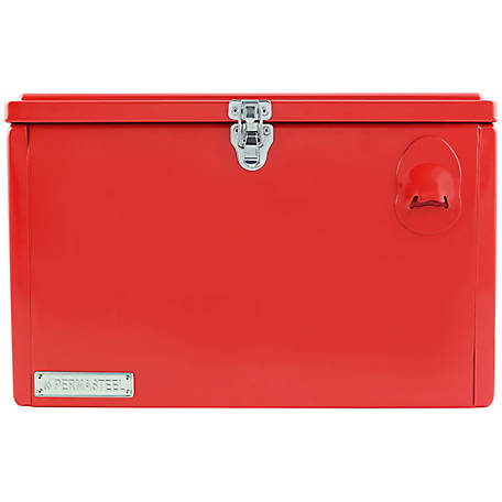 Permasteel Portable Picnic Cooler, Red, 21 qt., PS-205-21QT-RED