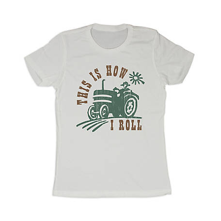 Farm Fed Clothing Women's Short-Sleeve This Is How I Roll T-Shirt