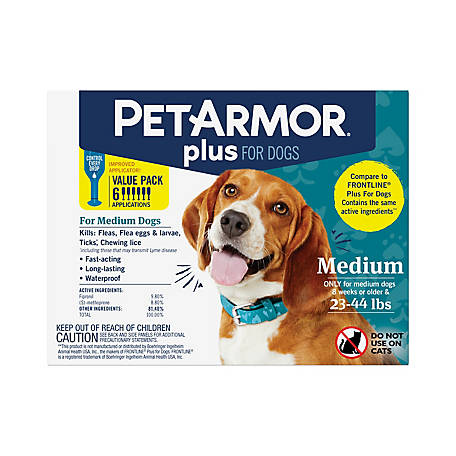 PetArmor Plus Dog 23-44 lb., 6 ct., 5126