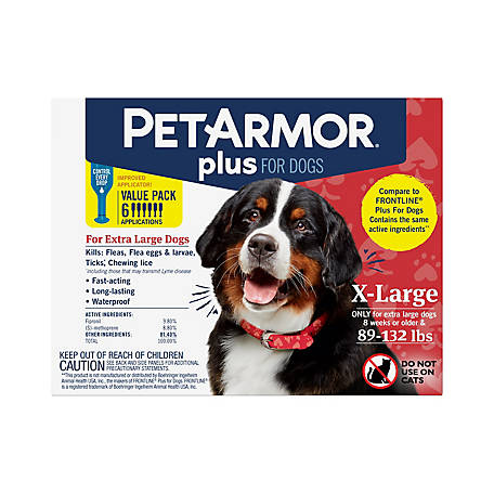 PetArmor Plus Dog 89-132 lb., 6 ct., 5128