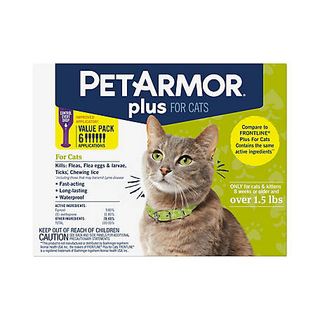 PetArmor Plus Cat Over 1.5 lb., 6 ct., 5129