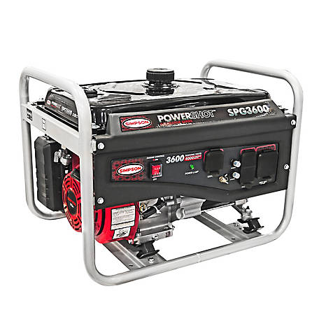 SIMPSON PowerShot Portable 3600-Watt Generator (49-State), 70029
