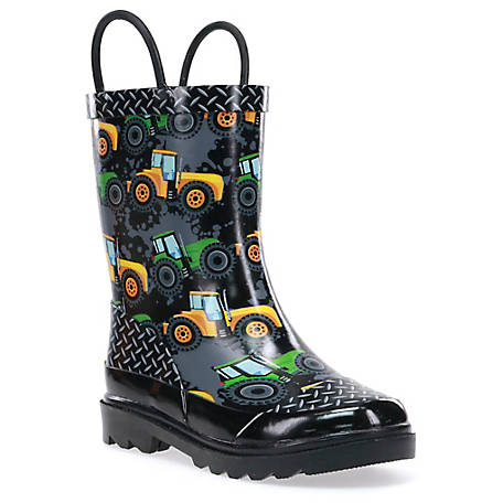 Western Chief Boys' Tractor Zone Rubber Boots