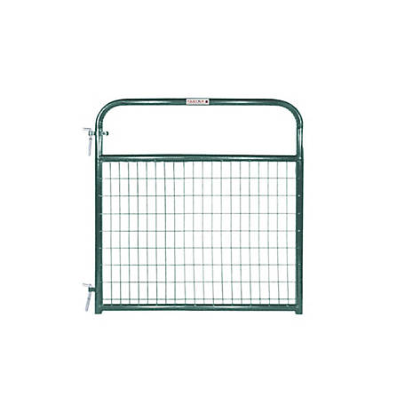 Tarter 4 ft. Wire Gate, 2 in. x 4 in. Grid Spacing, Green, WFGG4