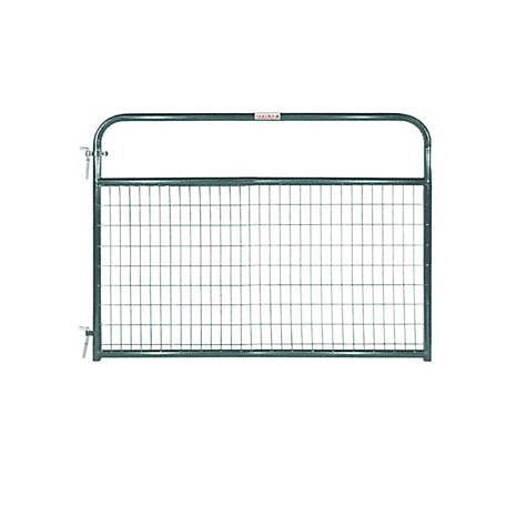 Tarter 6 ft. Wire Gate, 2 in. x 4 in. Grid Spacing, Green, WFGG6