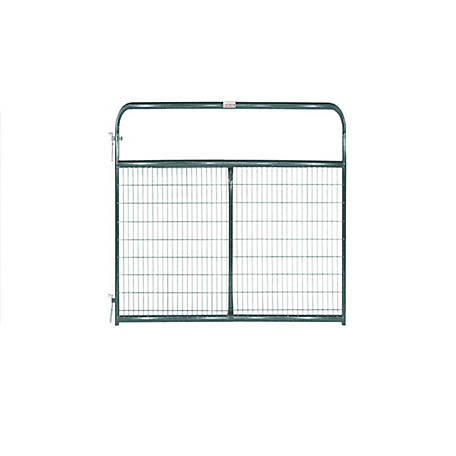 Tarter 8 ft. Wire Gate, 2 in. x 4 in. Grid Spacing, Green, WFGG8