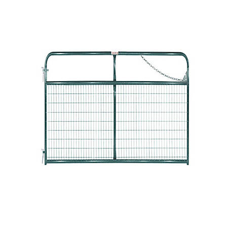 Tarter 10 ft. Wire Gate, 2 in. x 4 in. Grid Spacing, Green, WFGG10