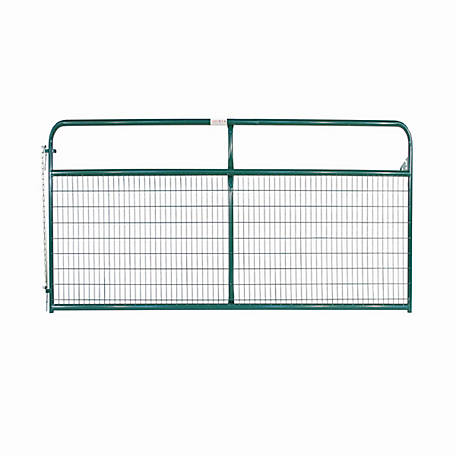 Tarter 12 ft. Wire Gate, 2 in. x 4 in. Grid Spacing, Green, WFGG12