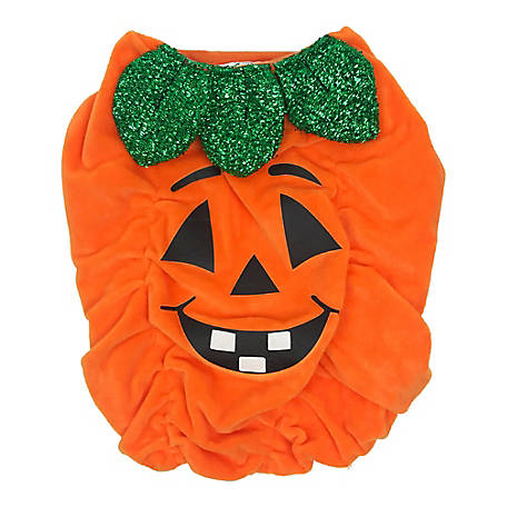 Pet Halloween Dog Pumpkin Sparkle Costume, TSCA0179LG