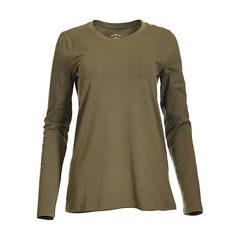 Blue Mountain Women's Long Sleeve Scoop T-Shirt YLK-1071