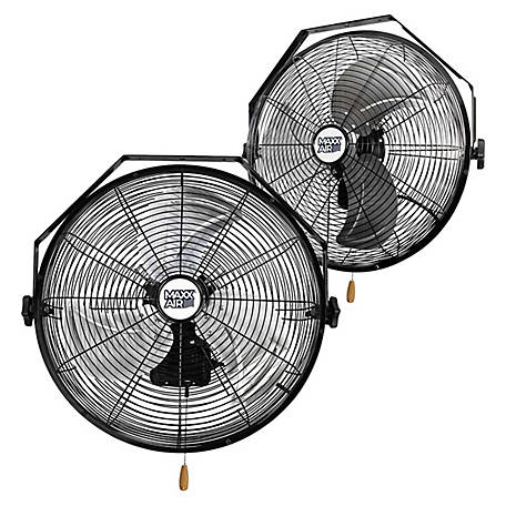 MaxxAir 18 High Velocity Wall Mount Fan, 2 Pack, HVWM 1802 UPS