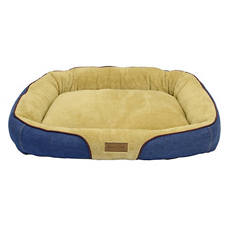 Dallas Manufacturing Company Large Bolster Bed With Piping, 34 in. x 25 in.
