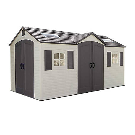 Lifetime 15 ft. x 8 ft. Outdoor Storage Shed Dual Entry, 60079