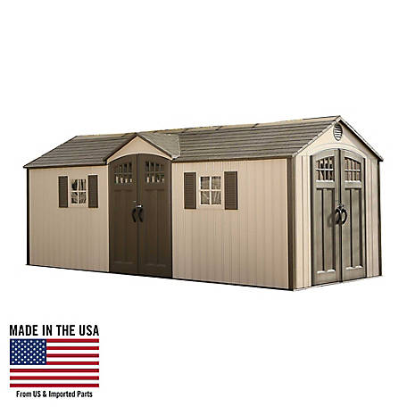 Lifetime 20 ft. x 8 ft. Outdoor Storage Shed, 60127