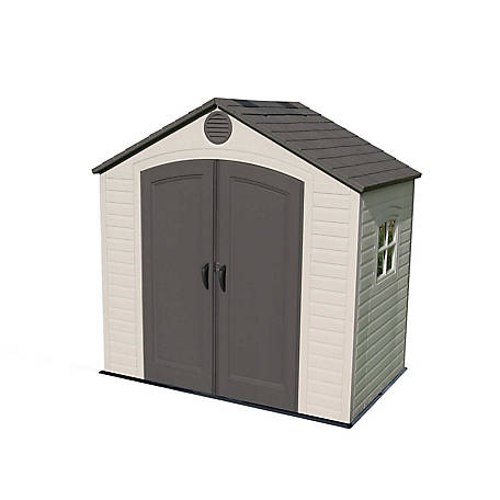 Lifetime 8 ft. x 5 ft. Outdoor Storage Shed With Window, 6406