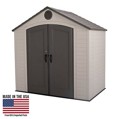 Lifetime 8 ft. x 5 ft. Outdoor Storage Shed, 6418