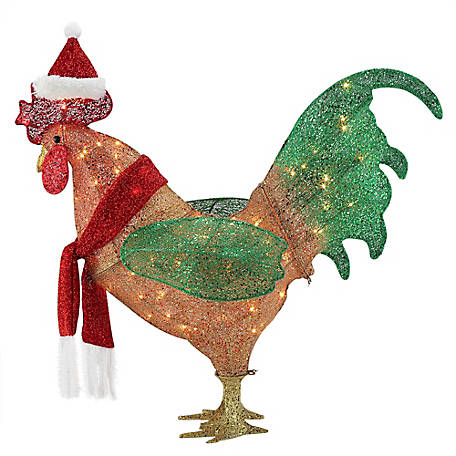 Gemmy Sequin Strands-Rooster Christmas Decor, 115805