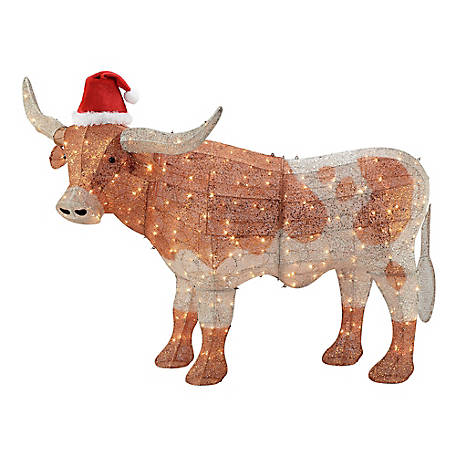 Gemmy Crystal Longhorn Christmas Decor, 115810
