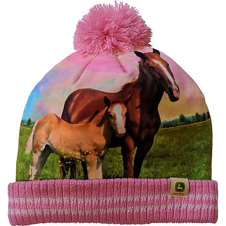 John Deere Hat Toddler Girl Horse Photo Real