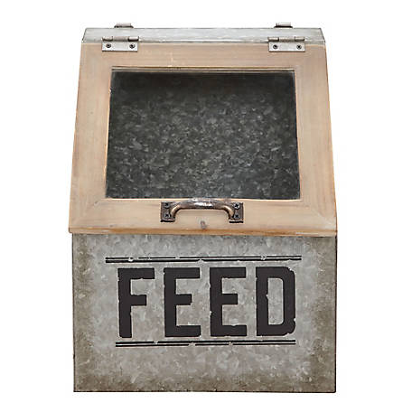 Red Shed Wood/Metal Feed Bin