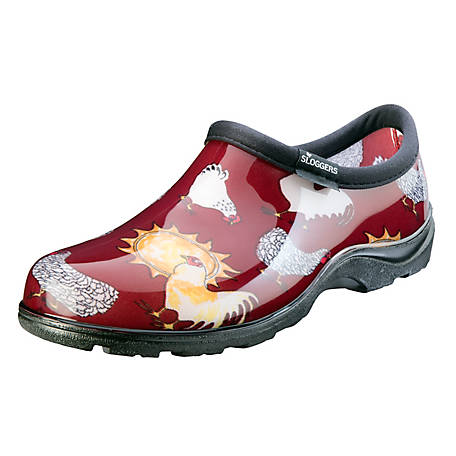 Sloggers Women's Chicken Print Waterproof Comfort Shoe