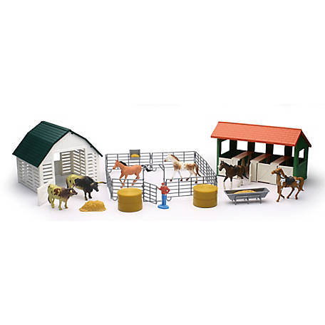 New-Ray Country Life Playset Horse Ranch with Barn, Large, SS-05506D