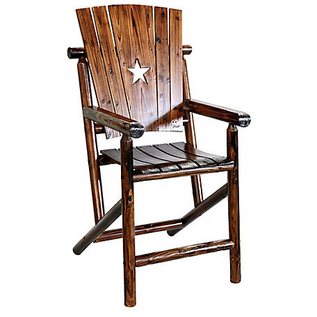 Leigh Country Char-Log Star Bar Arm Chair, TX 93732