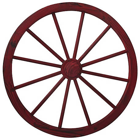 Leigh Country 30 Red Wash Wagon Wheel