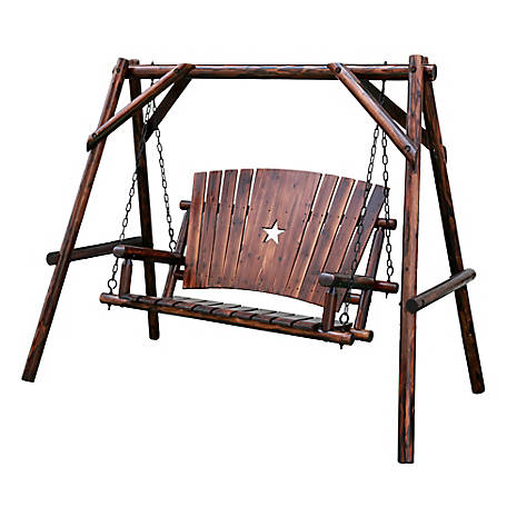 Leigh Country Char-Log Star Swing Set, TX 94081