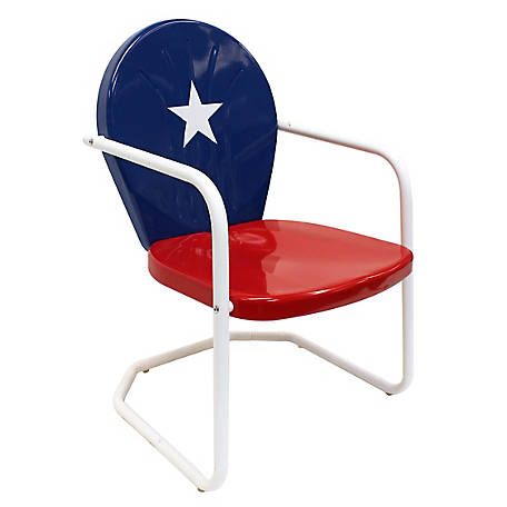 Leigh Country Texas Flag Retro Chair, TX 93488