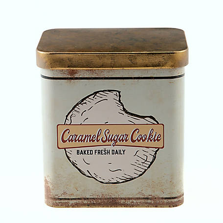 Red Shed Caramel Sugar Cookie Scented Candle in Vintage Tin