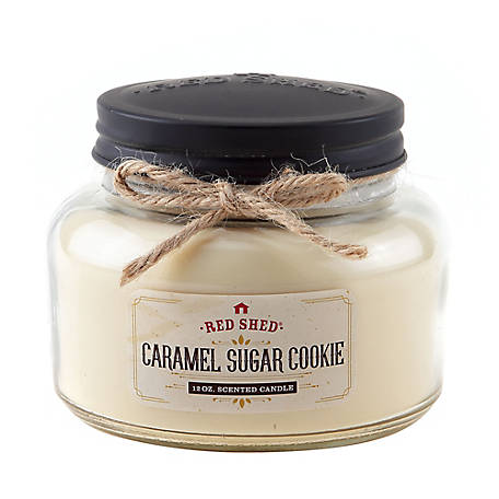 Red Shed 12 oz. Caramel Sugar Cookie Jar Candle