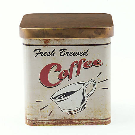 Red Shed Coffee Candle in Vintage Tin Can
