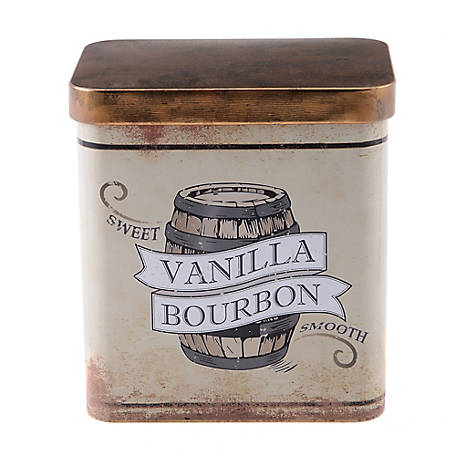 Red Shed Vanilla Bourbon Scented Candle in Vintage Tin
