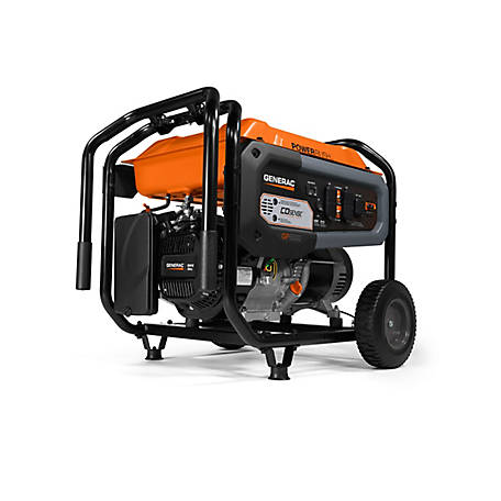 Generac GP6500 6,500 Watt Portable Generator with CO-Sense, 7680