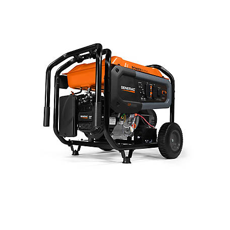 Generac GP6500E 6,500 Watt Portable Generator, Electric Start, 7682