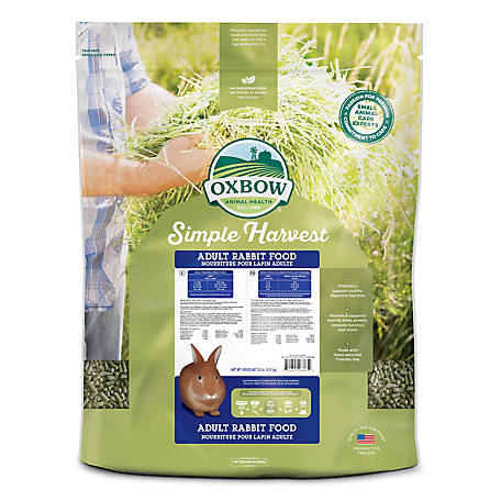 Oxbow Animal Health Simple Harvest Adult Rabbit Diet, 20 lb., 10799