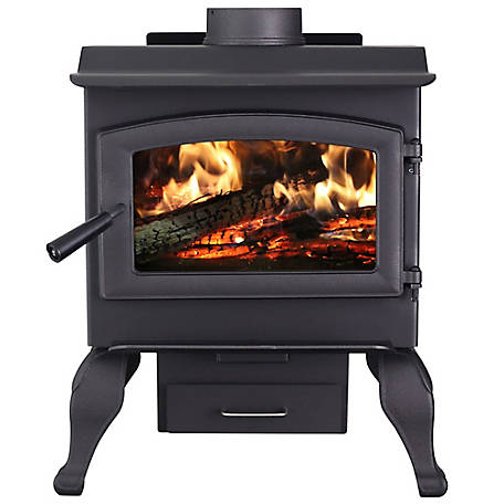 US Stove 1,200 sq. ft. Defender Wood Burning Stove with Legs & Blower, US1100E-BL