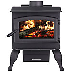 US Stove The Defender II Wood Stove with Blower and Ash Drawer, US1100E-BL