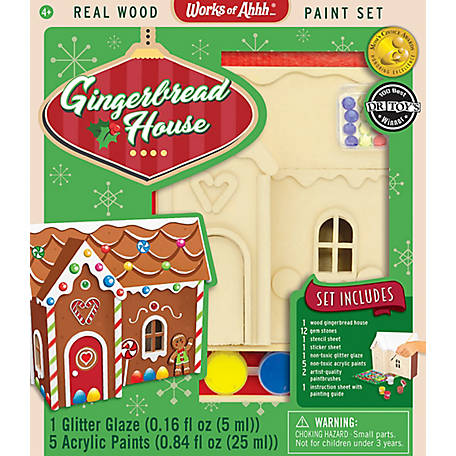 Masterpieces Gingerbread House Wood Paint Kit, 21560