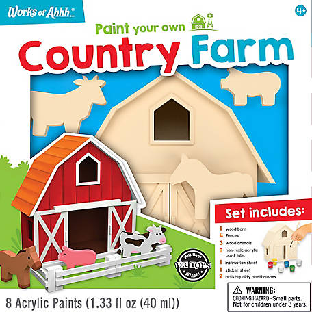 Masterpieces Country Farm Wood Paint Kit, 21902