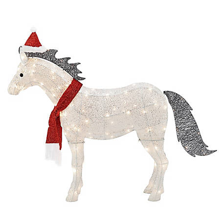 Gemmy Crystal Shetland Pony Christmas Decor, 115806