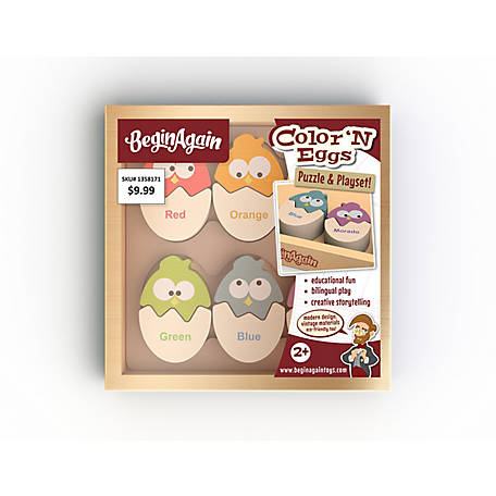 BeginAgain Color 'N Eggs Wood Puzzle Playset, B1501