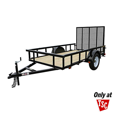 Tractor Supply 5.5 ft. x 10 ft. Square Carry-On Trailer Model #:, MODEL #: 5.5X10GWHDP