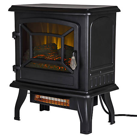 Pleasant Hearth 17 in. Infrared Electric Stove with Heater, ES-217-10