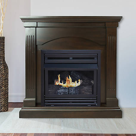 Pleasant Hearth 36 in. Natural Gas Tobacco Fireplace, VFF-PH20NG-2T1